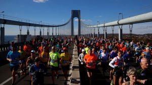 A maratona está entre os eventos esportivos