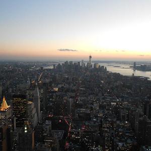 Como é Nova York vista do alto