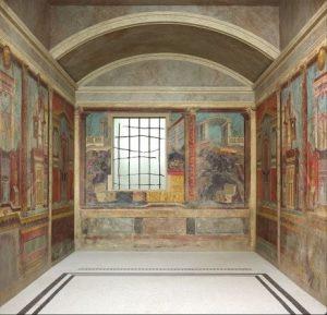 Exemplo de espaço de hospitalidade de visitantes na Roma antiga