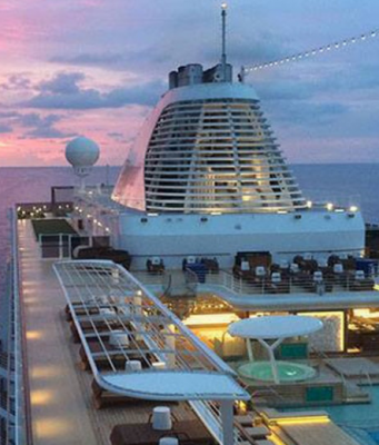 Viaje, sem sair de casa, pelas suítes de um navio de luxo